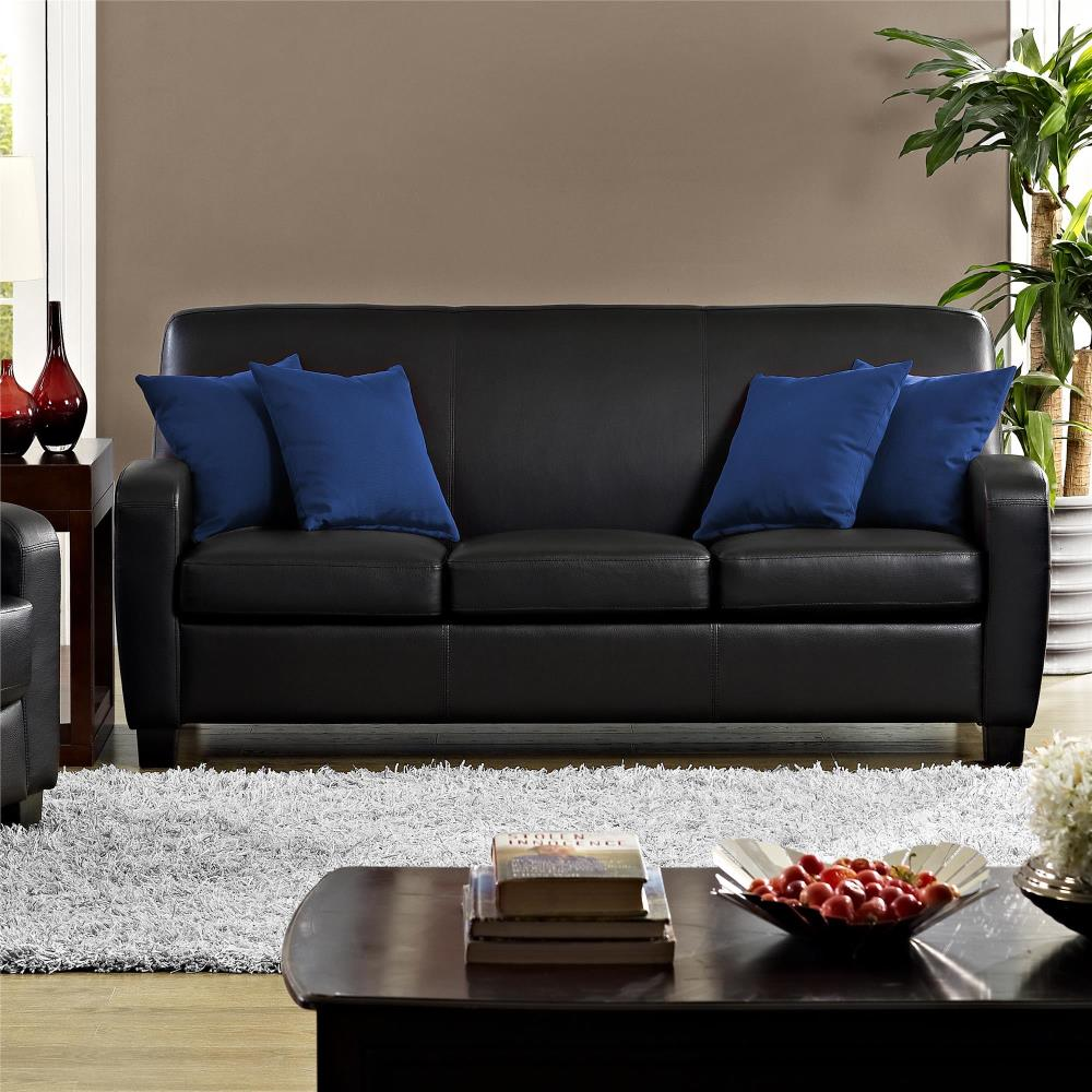 mainstays-faux-curved-back-leather-sofa