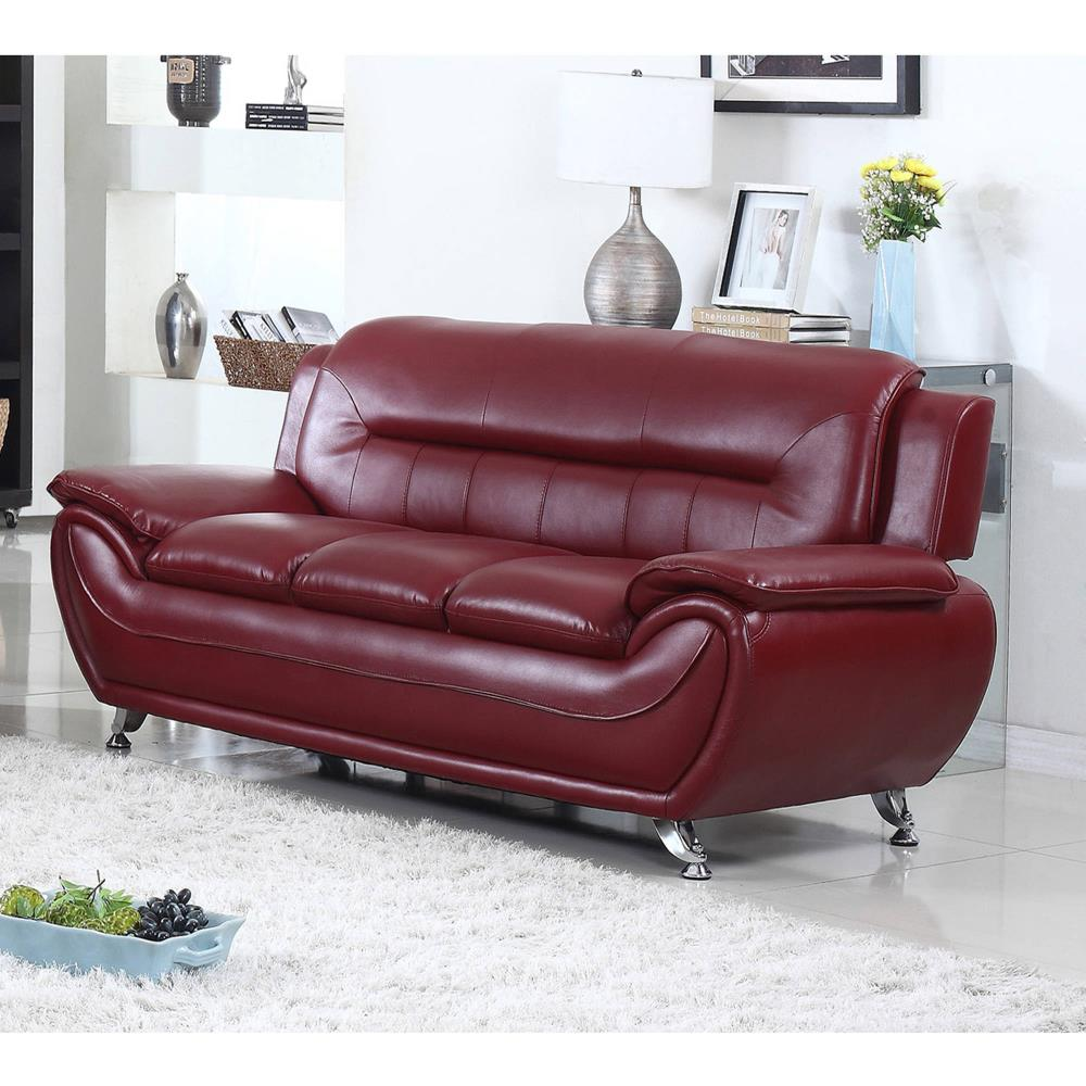 red-leather-curved-sofa