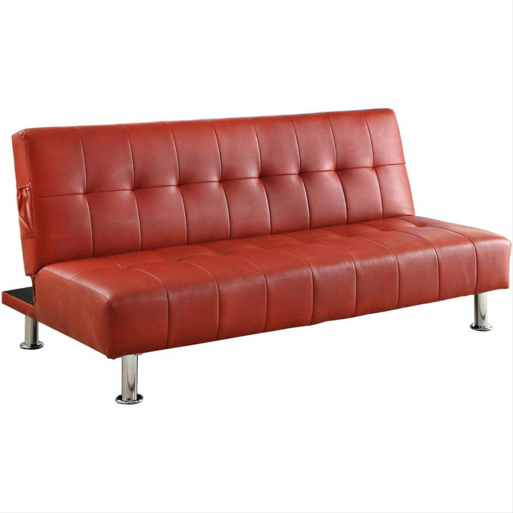 venetian-worldwide-red-leather-curved-sofa